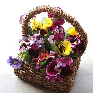 Pansy Basket Arrangement